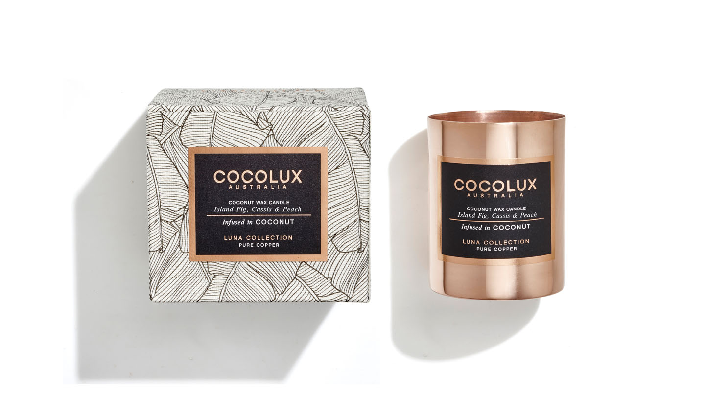 Cocolux Candles Island Fig Cassis and Peach - boxed 150g